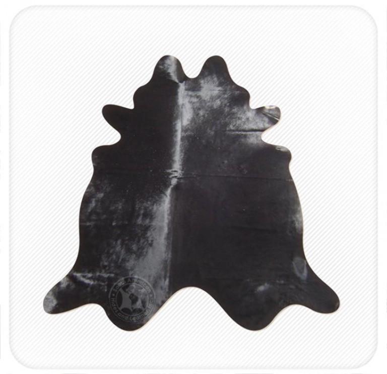 Dyed cowhide midnite black