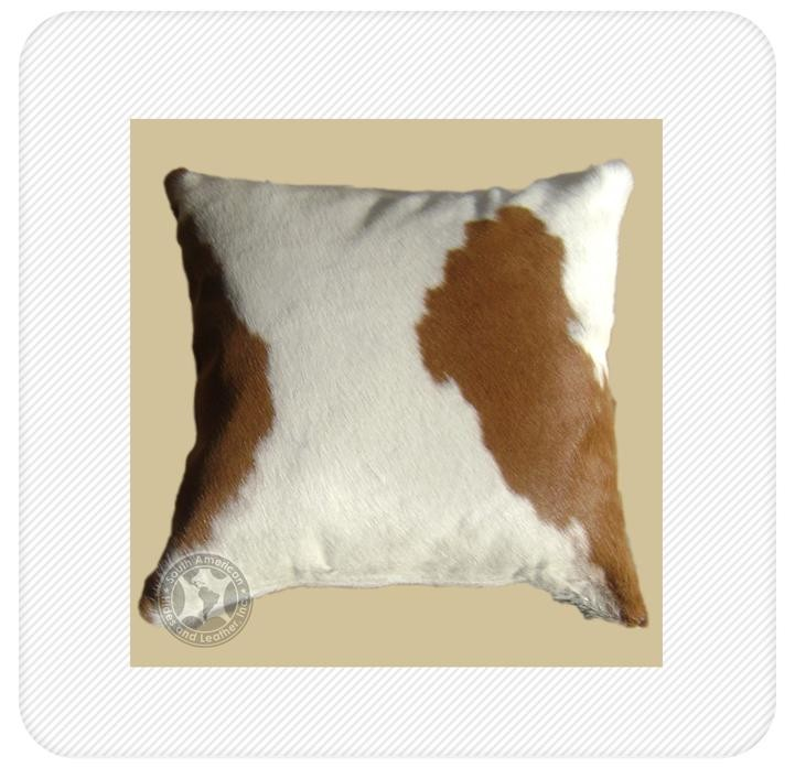 pillow brown & white