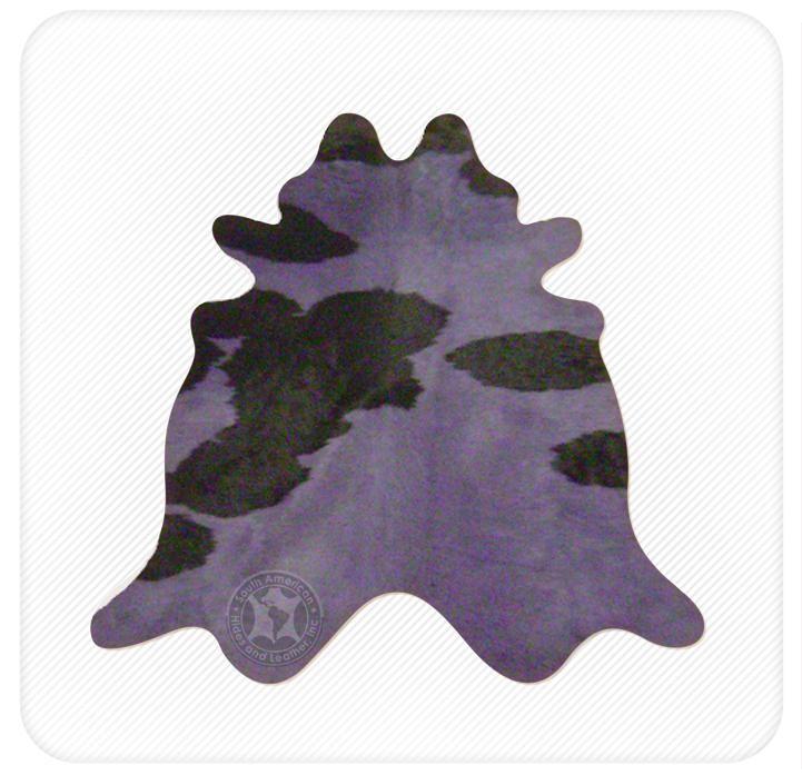 Dyed cowhide purple on black