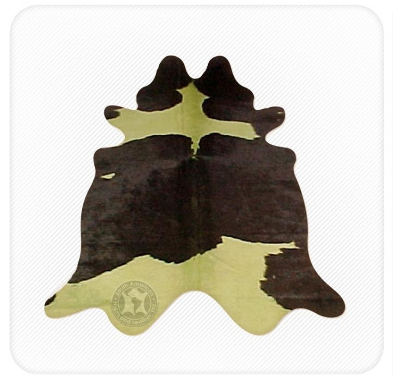 Dyed cowhide khaki on black