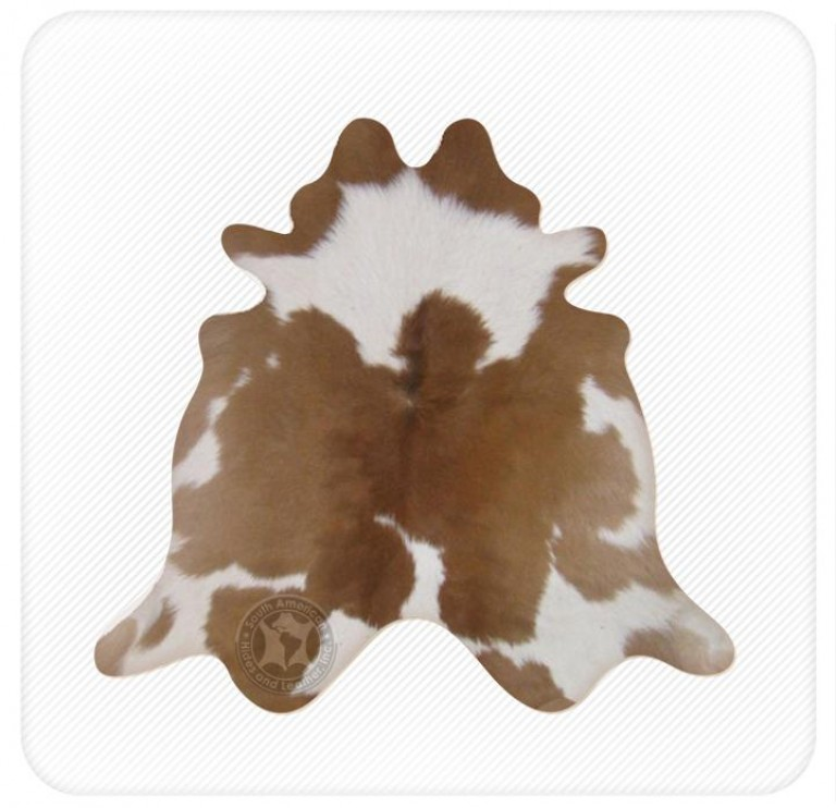 Calfskin brown & white