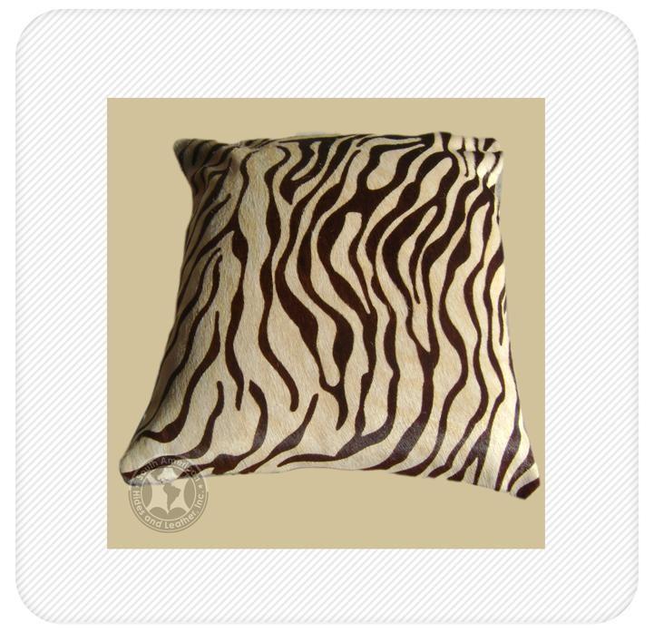 pillow baby zebra brown stripe