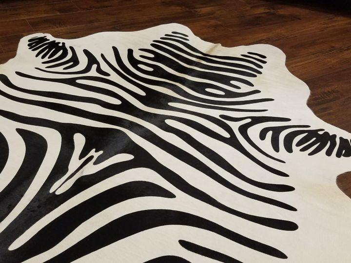 Alfombra de piel estampada zebra
