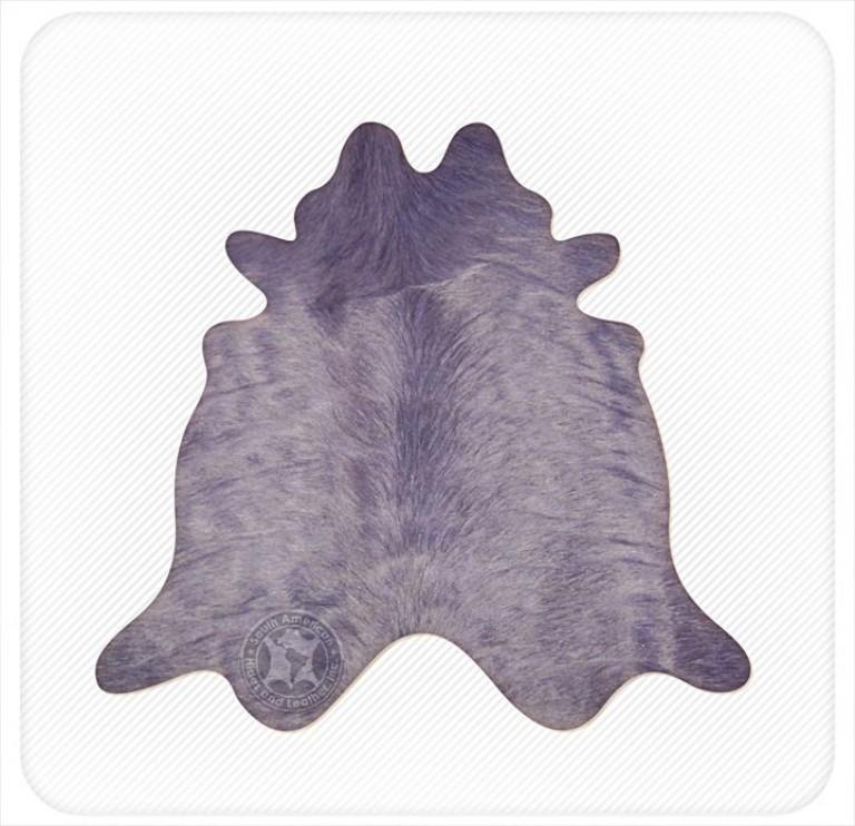 Dyed cowhide deep purple
