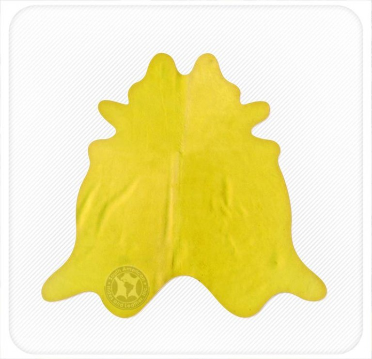 Dyed cowhide highlight yellow